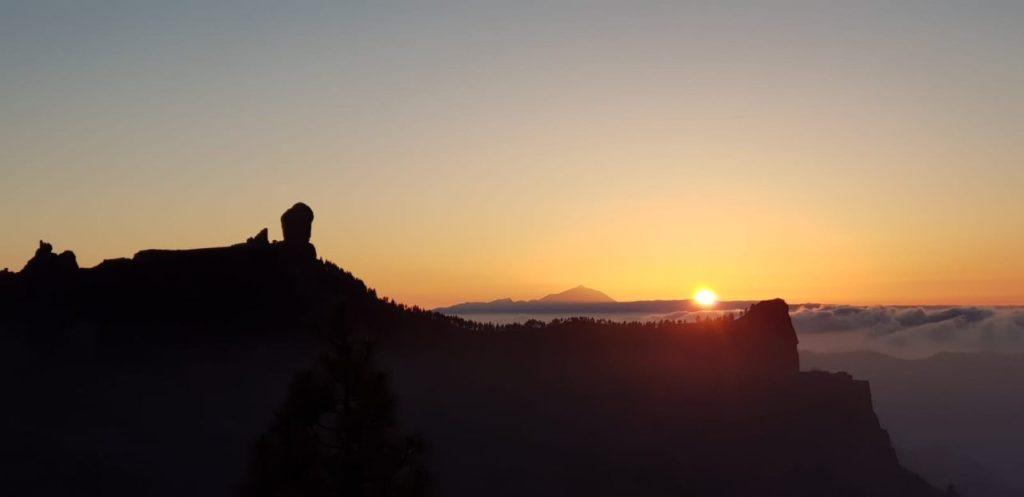 Puesta de sol desde El Garañón, Tejeda