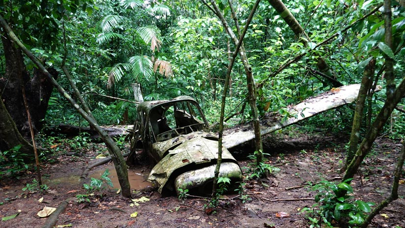 Crashed plane in Corcovado National Park