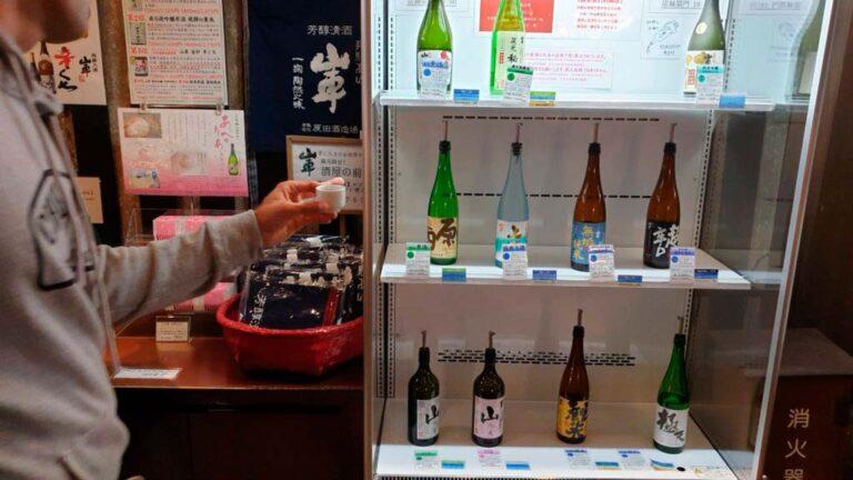 Cata de sakes en Takayama
