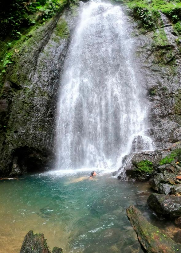 Waterfall nearby Río Claro