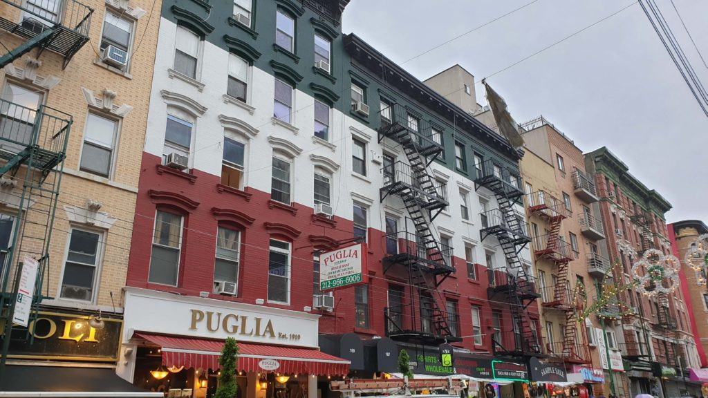 Buildings in the Little Italy neighborhood, what to see in New York in 4 days