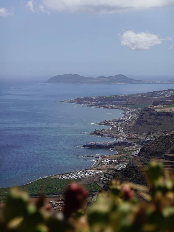 Views to the northern cost of Gran Canaria