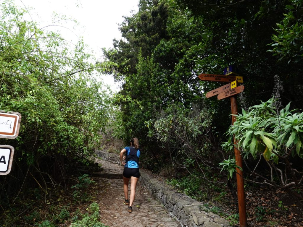 Start of Tilos de Moya hike