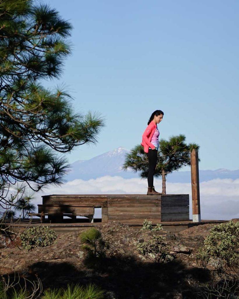 Mirador Llanos de la mimbre y Teide