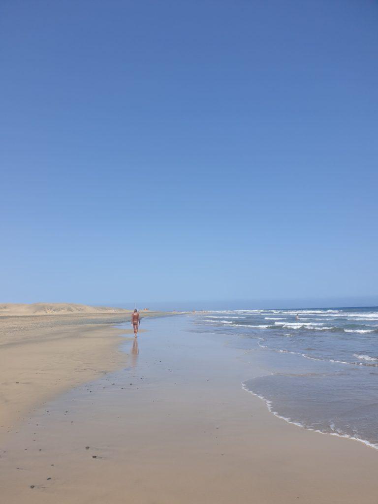 Maspalomas nudist beach of Gran Canaria