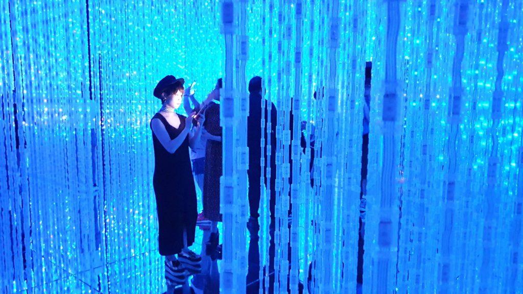 Digital art museum, TeamLab Borderless, Odaiba island