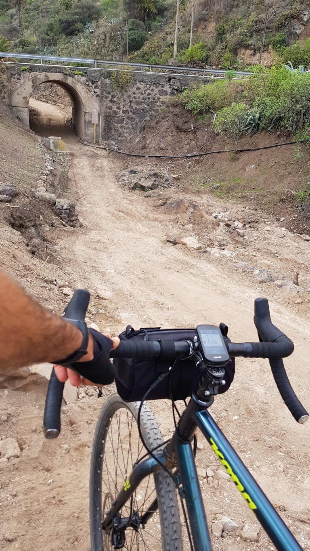 Ruta en bici por el barranco de Guiniguada