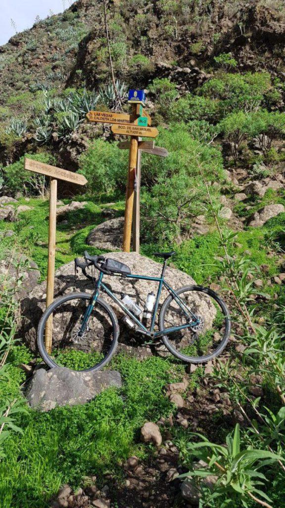 Parte de la ruta en bici desde el mar al Pico de Las Nieves