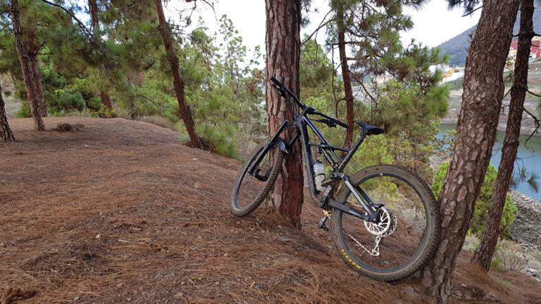 Presas de la goleta en bici de montaña en gran canaria