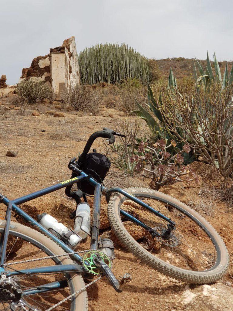 Ruta en bici desde Telde con paisajes áridos y cardones