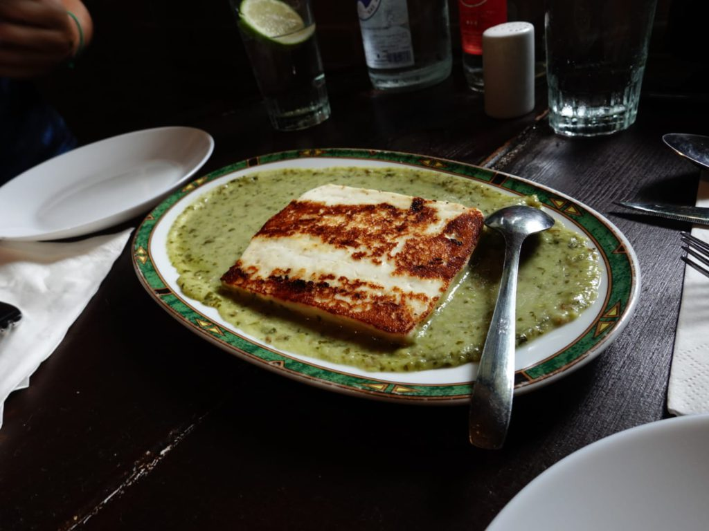 Grilled cheese with green mojo, Los Tilos restaurant