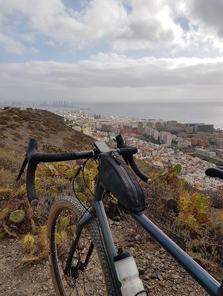 Rutas para bici de montaña en Las Palmas de GC, vistas desde San Juan de Dios