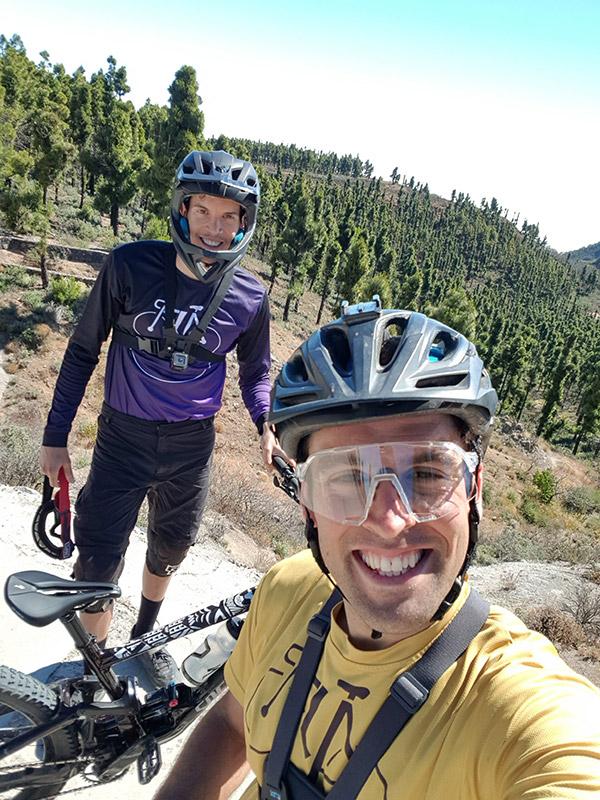 San Mateo al Pico de Las Nieves en bici