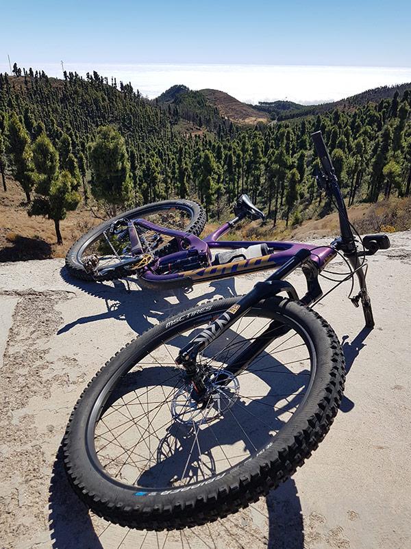 Bici de enduro para ruta circular