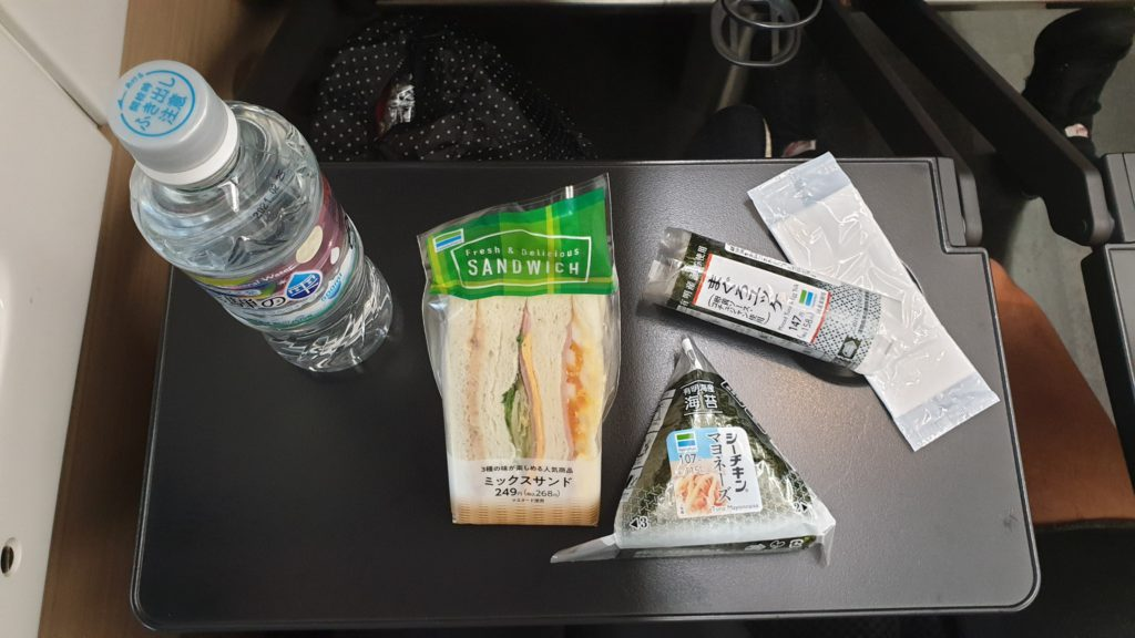 Sandwich and roll of rice and tuna