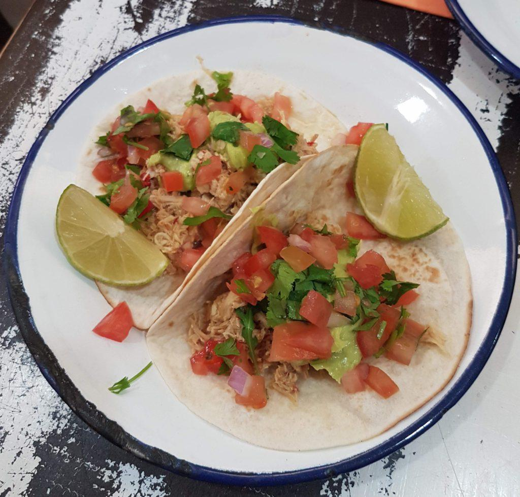 Where to eat at Las Canteras. Chicken tacos, La Bikina