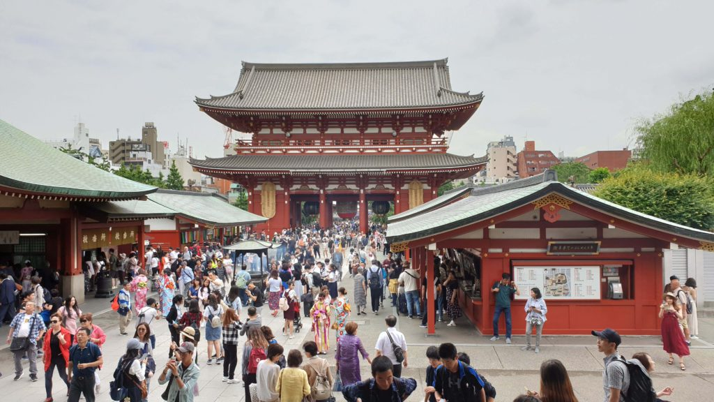 Senso-ji temple, places to visit in Tokyo in 4 days