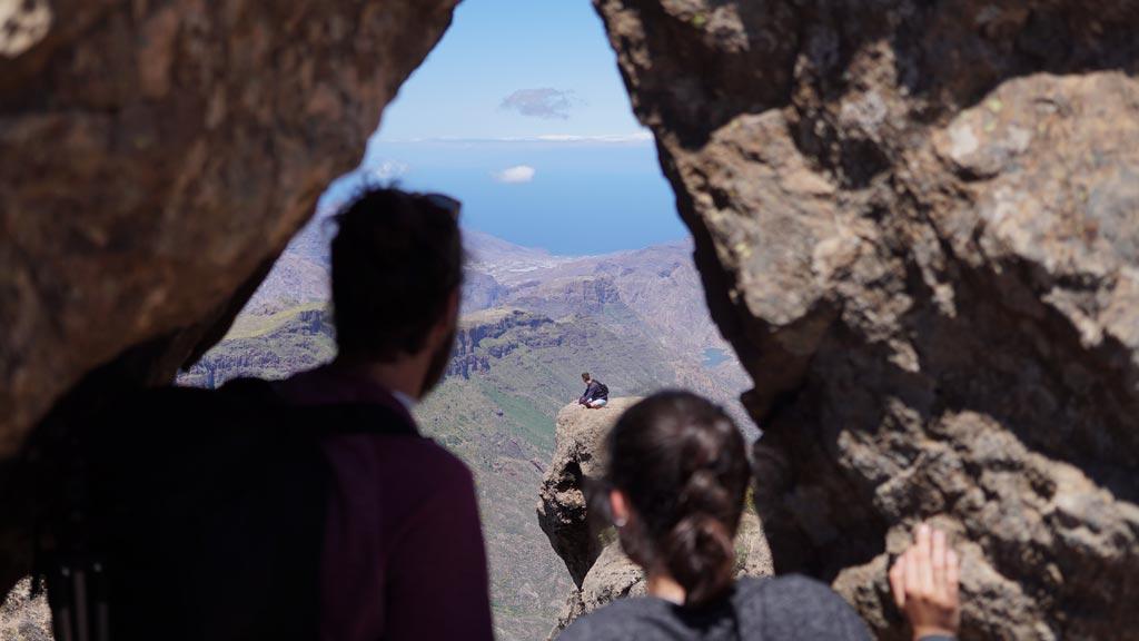 Ventana natural junto al Roque Nublo
