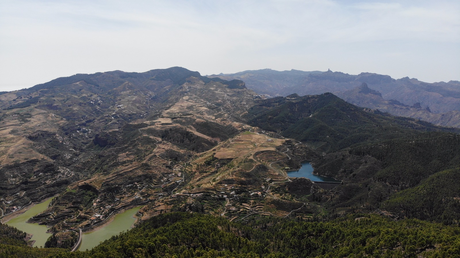 Bike route through Los Pérez Dam. View from the top
