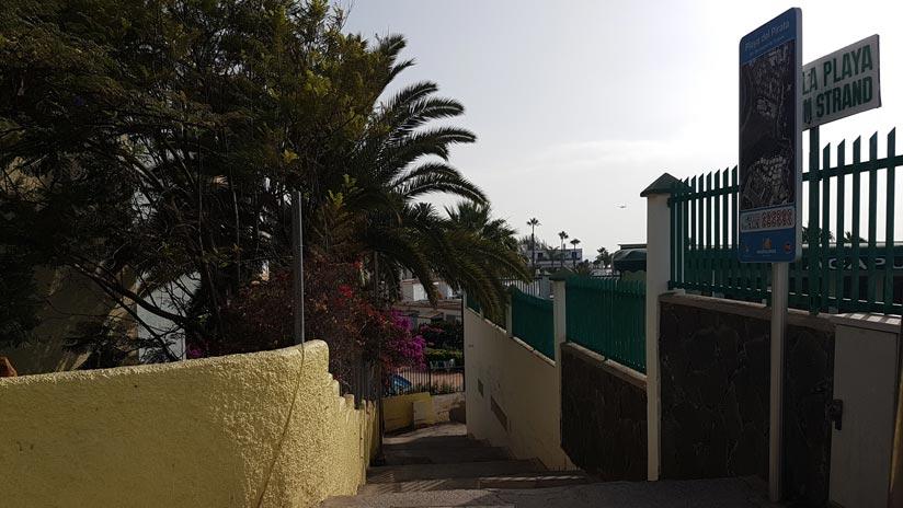 acceso desde Playa del Águila