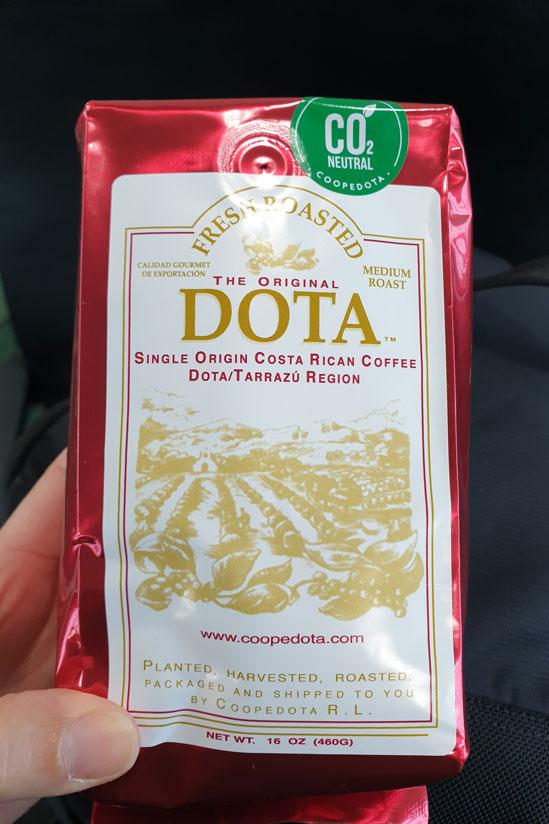 Café Dota, souvenir de Costa Rica