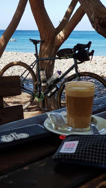 Gran Canaria en bici de gravel, break en La Aldea