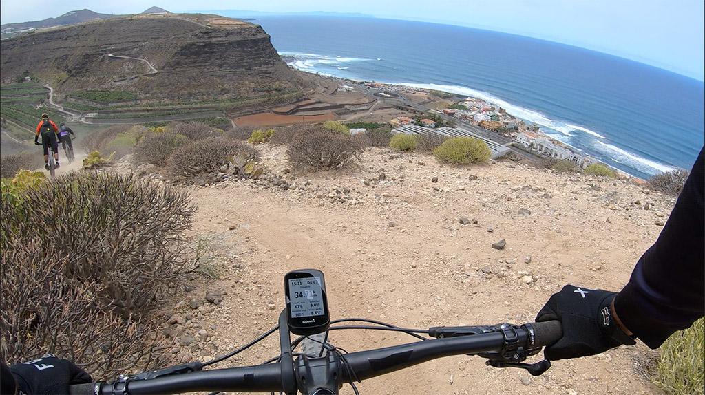 Descenso en bici desde el Pico de Las Nieves