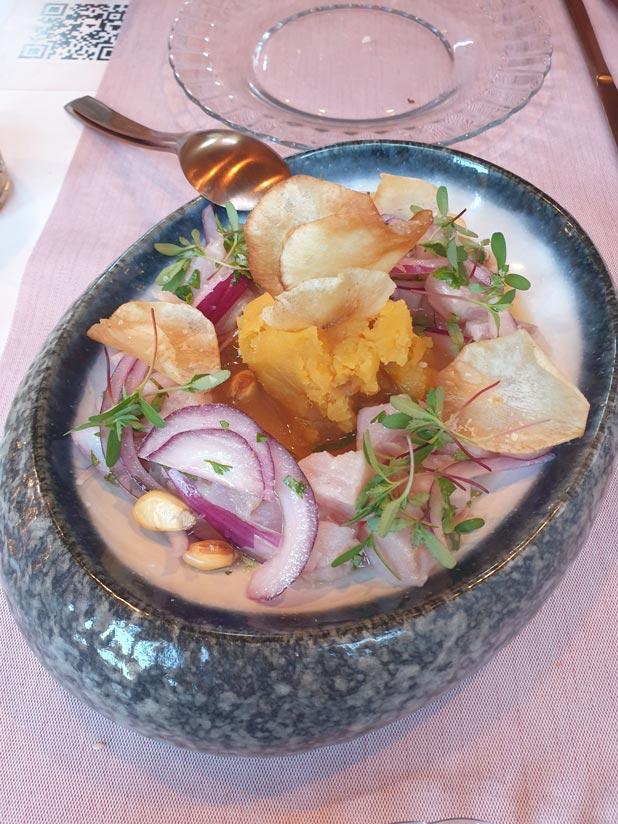 Ceviche in Anteo Bar, restaurants in Las Palmas