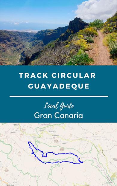 track senderismo barranco de guayadeque