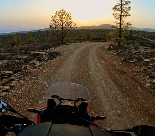 Gran Canaria en moto trail por pistas offroad