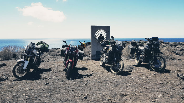 El Hierro by trail motorcycle