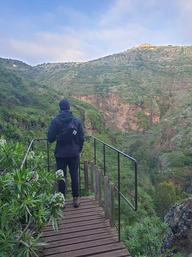 Viewpoint overlooking Azuaje ravine