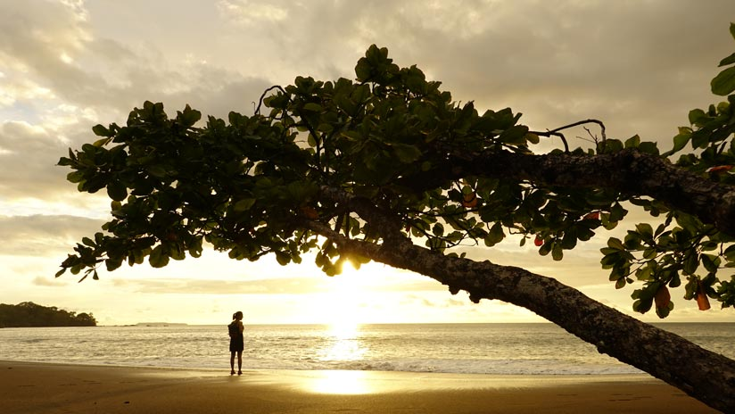 Sunset at Cocalito beach. Things to do in Costa Rica