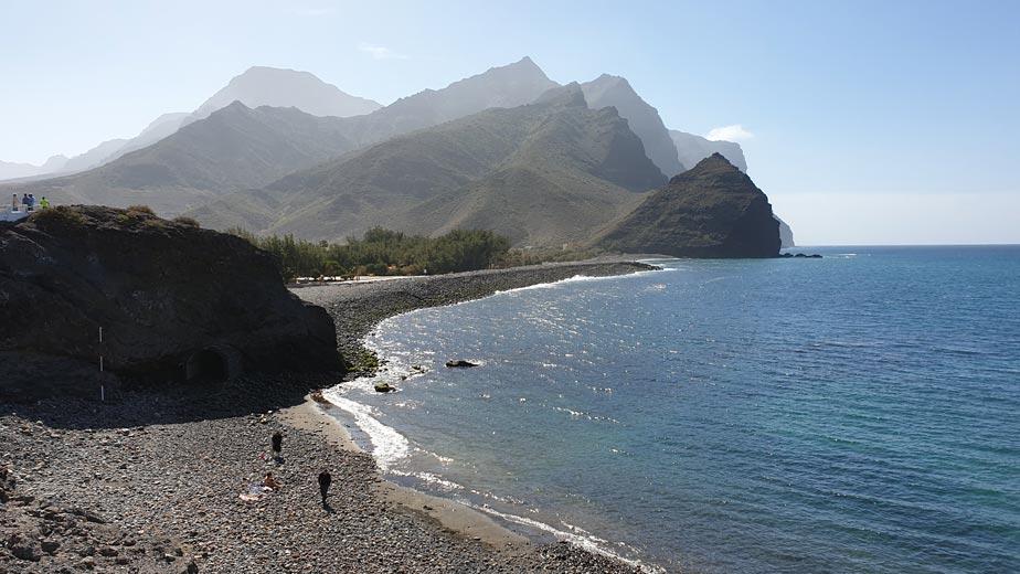 Panorámica playa de La Aldea