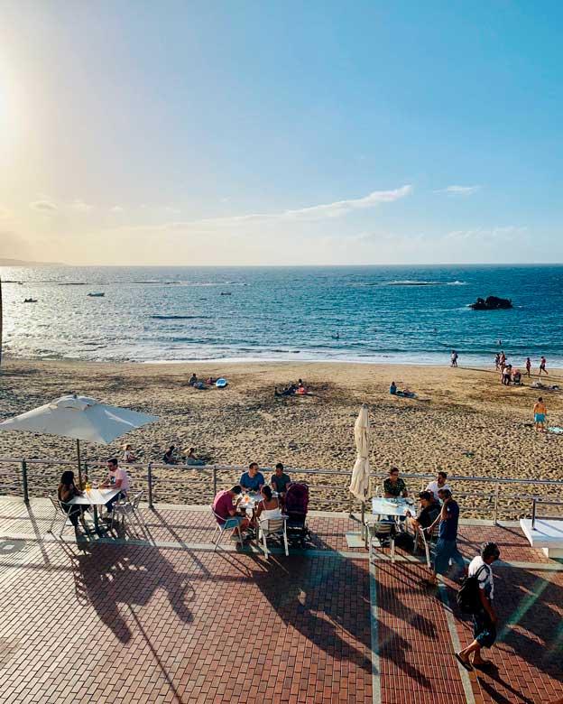 restaurantes con terraza en las palmas, La Bikina