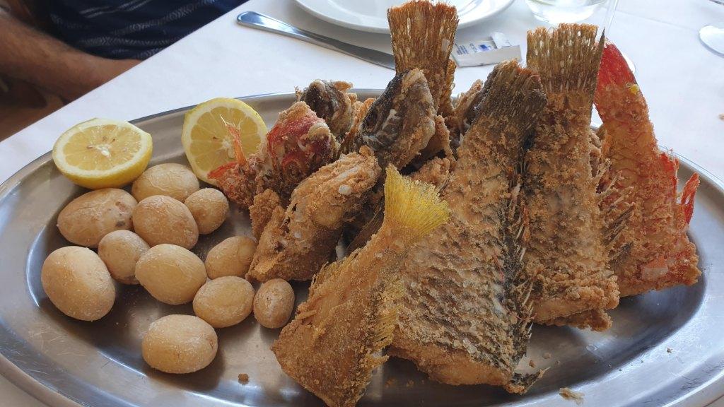 Vieja frita en la Cofradía de Pescadores de Taliarte